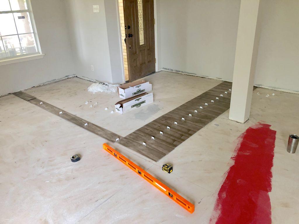 1500 sq ft residential tile installation