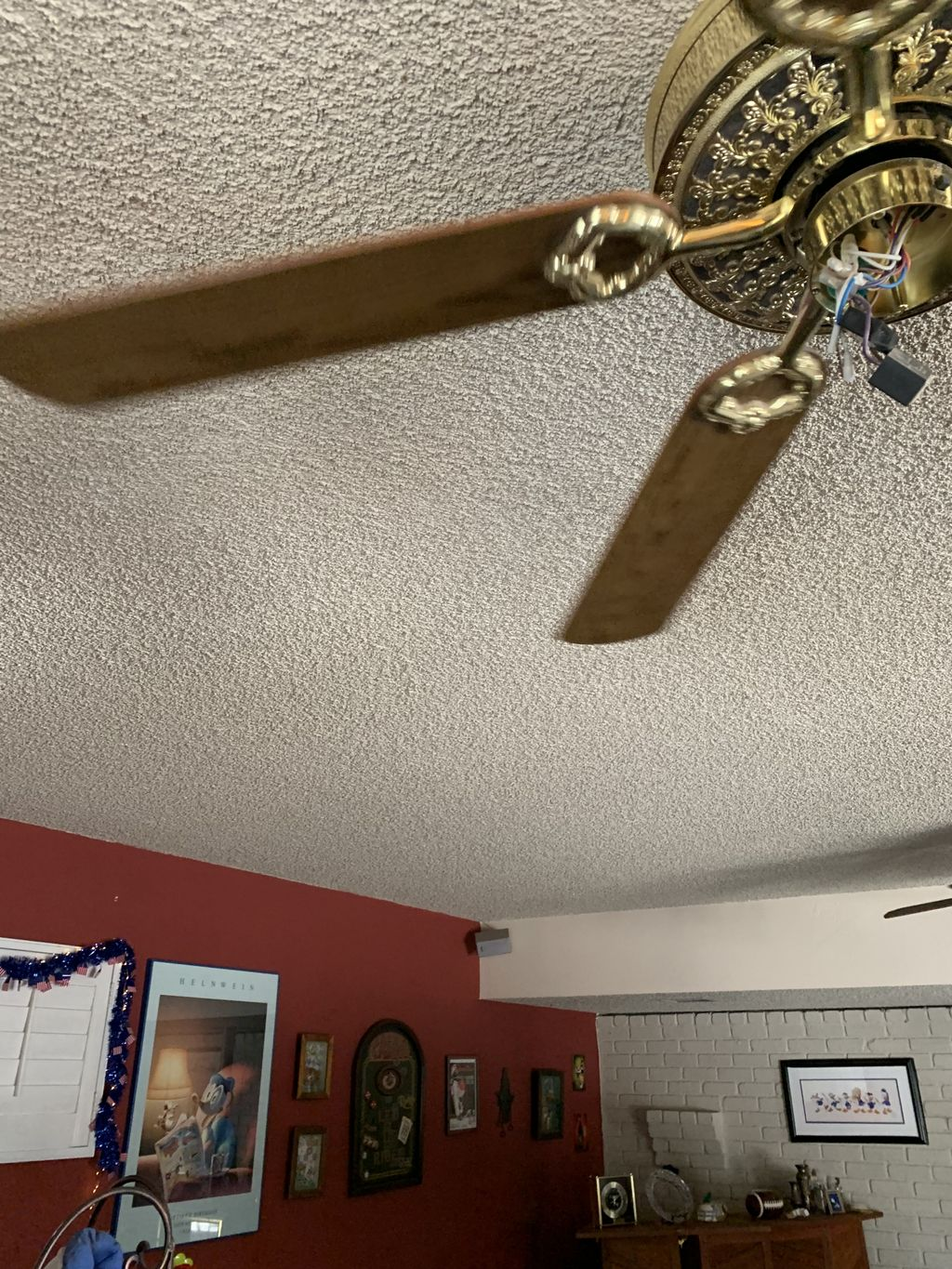 Crow molding and pop ceiling removal and texture and paint