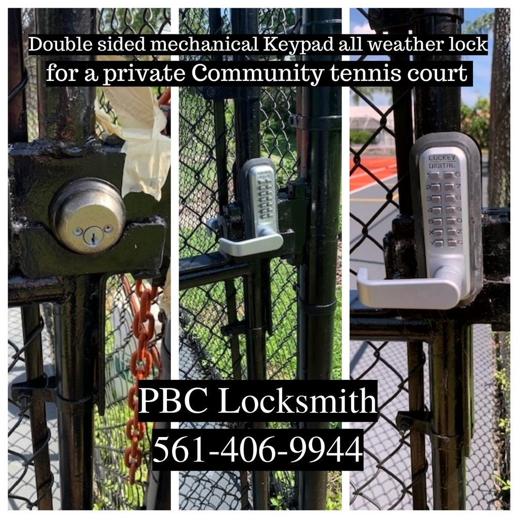 Tennis Court Mechanical keypad lock