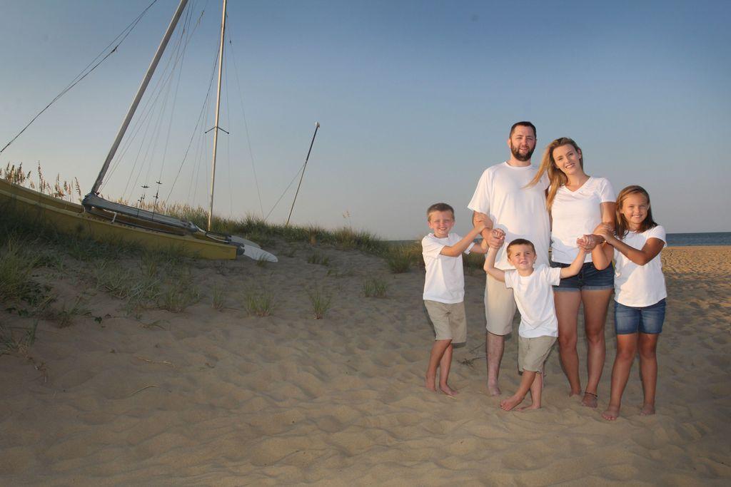 Outdoor beach family photoshoot