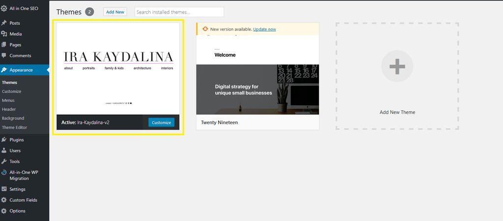 WordPress Custom Design Web Design - Edgewood 2019