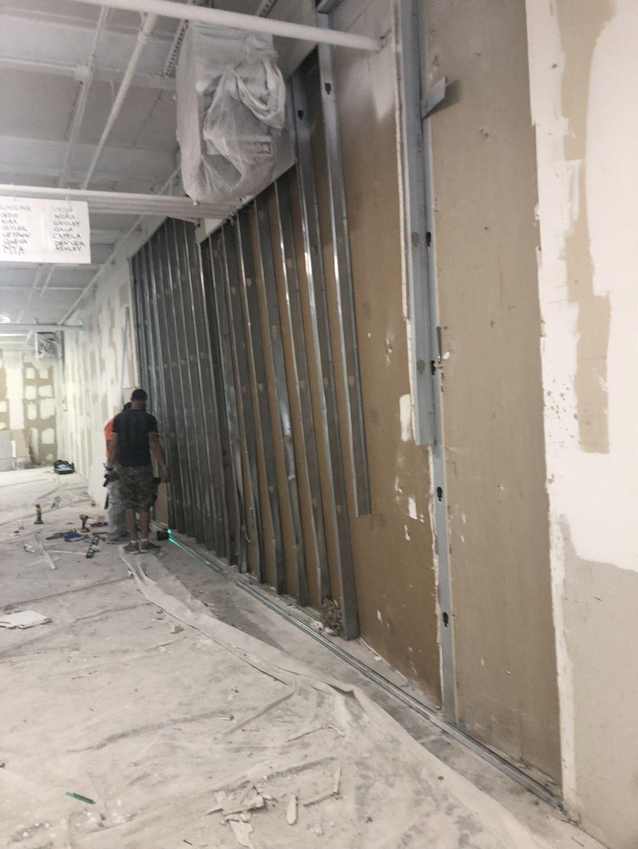 Dry wall installation