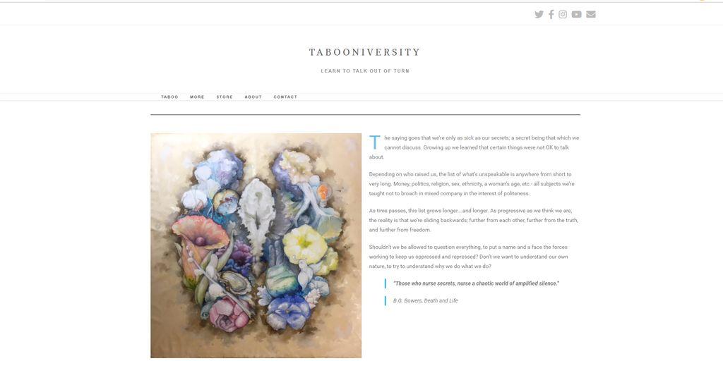 Taboo Subject Blog