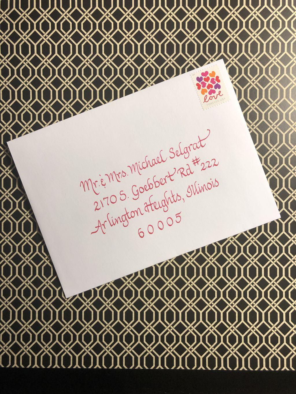 Wedding Envelopes fine script