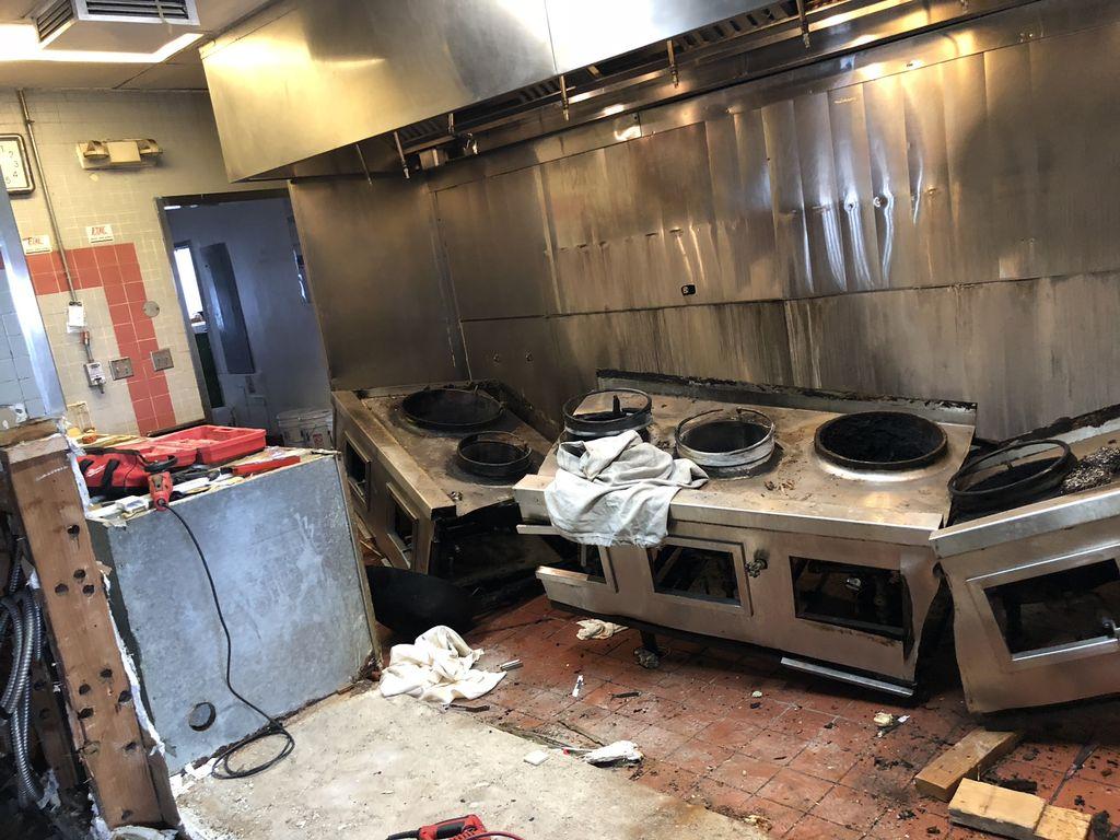 Restaurant kitchen & dining room remodel