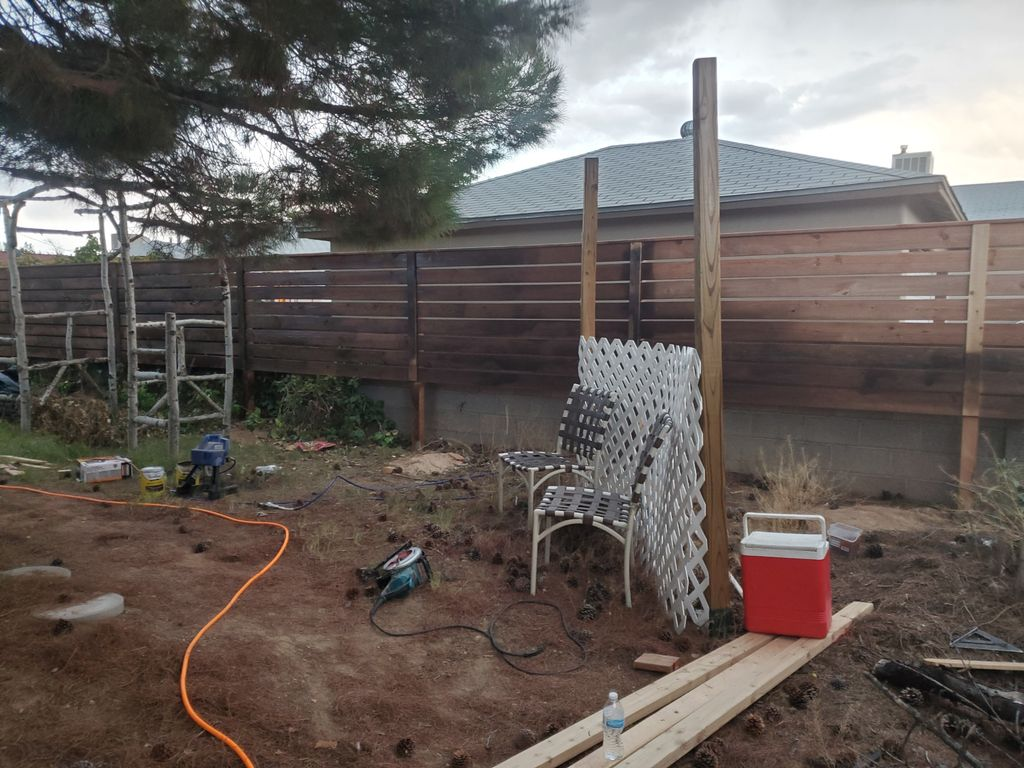 Honey stain fence