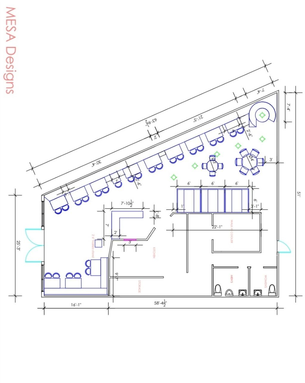 Restaurant floorplan