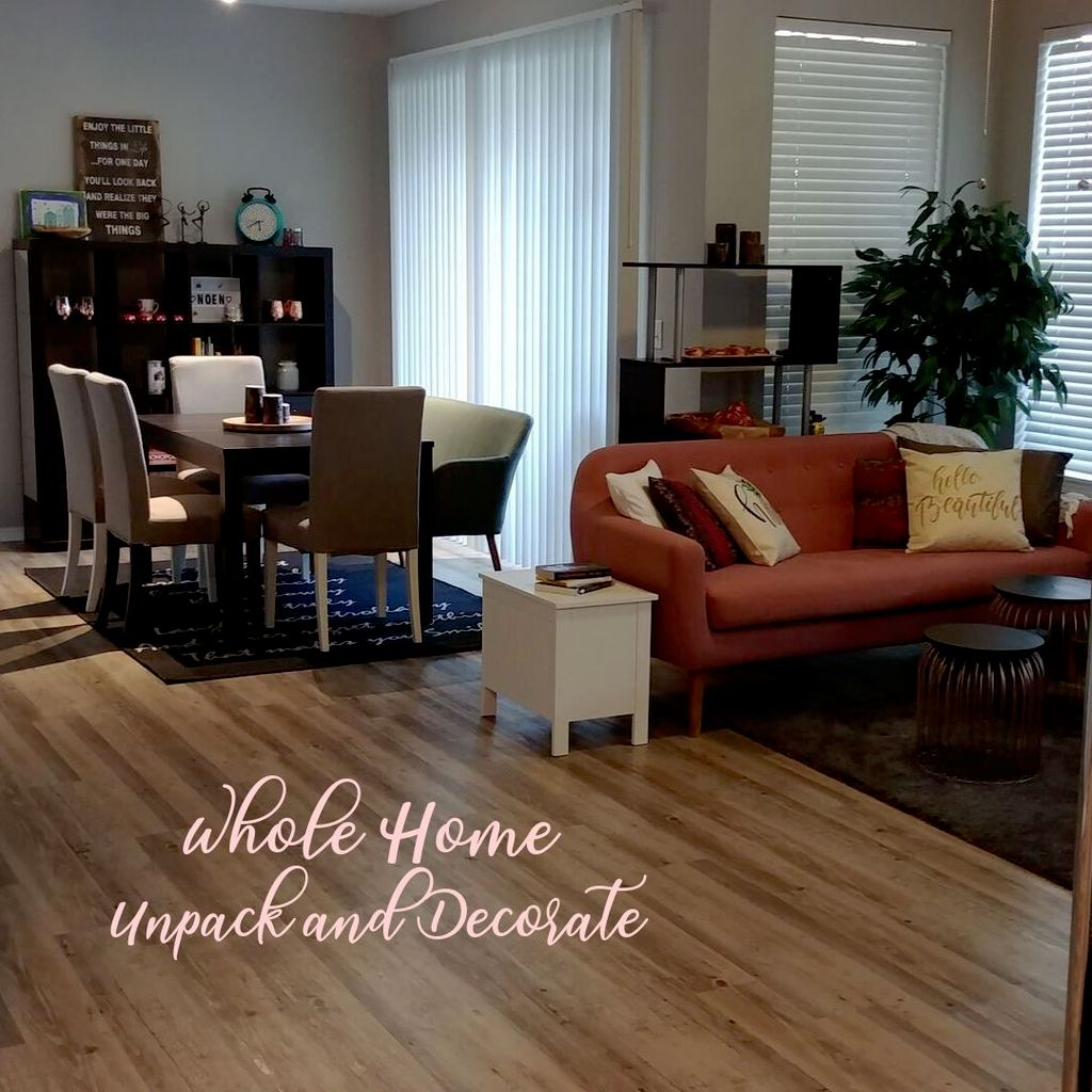 Whole home unpack and decorate