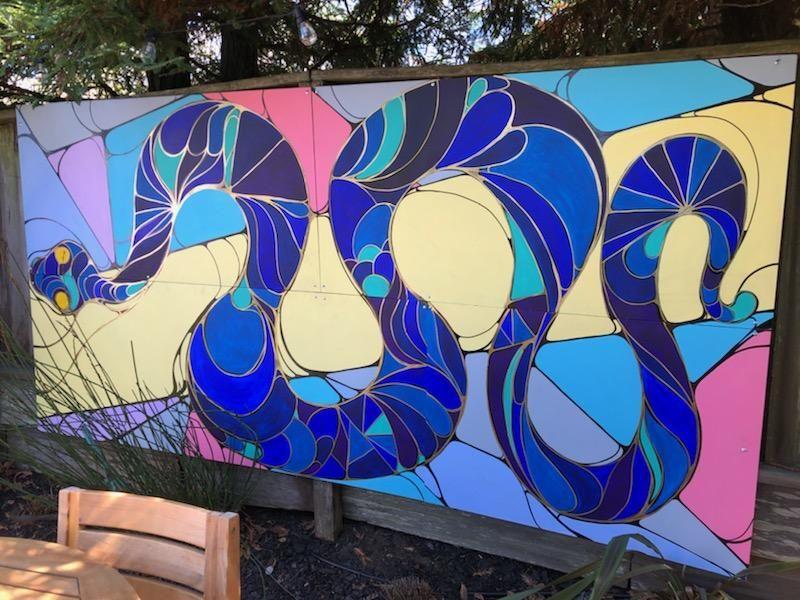 Back yard garden snake mural