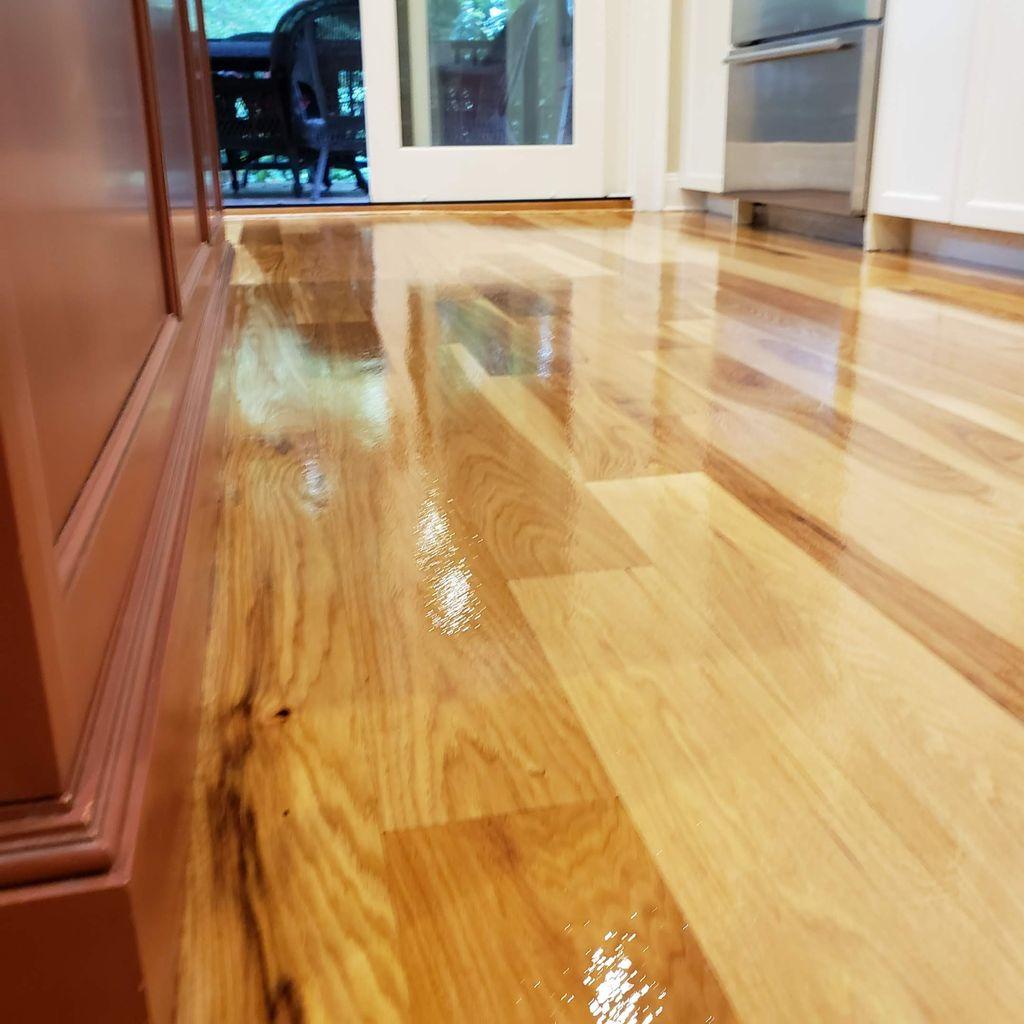 kitchen Hardwood Floor Refinished  Repair, sanding