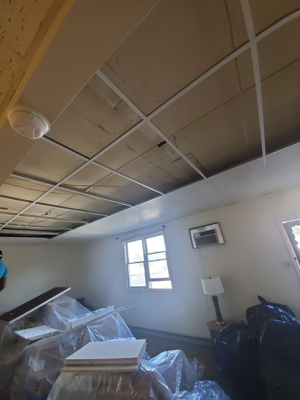 Ceiling Tile Removal and Replacement and Painting Metal Strips
