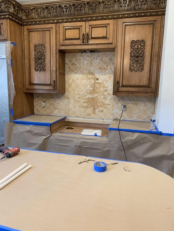 Kitchen backsplash-Marble