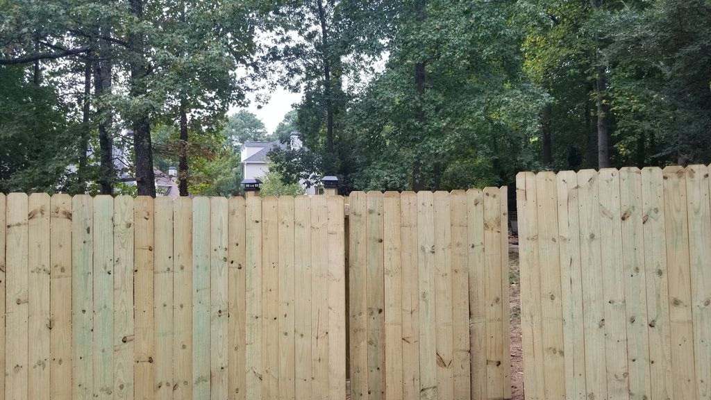 Privacy fence with 3 gates