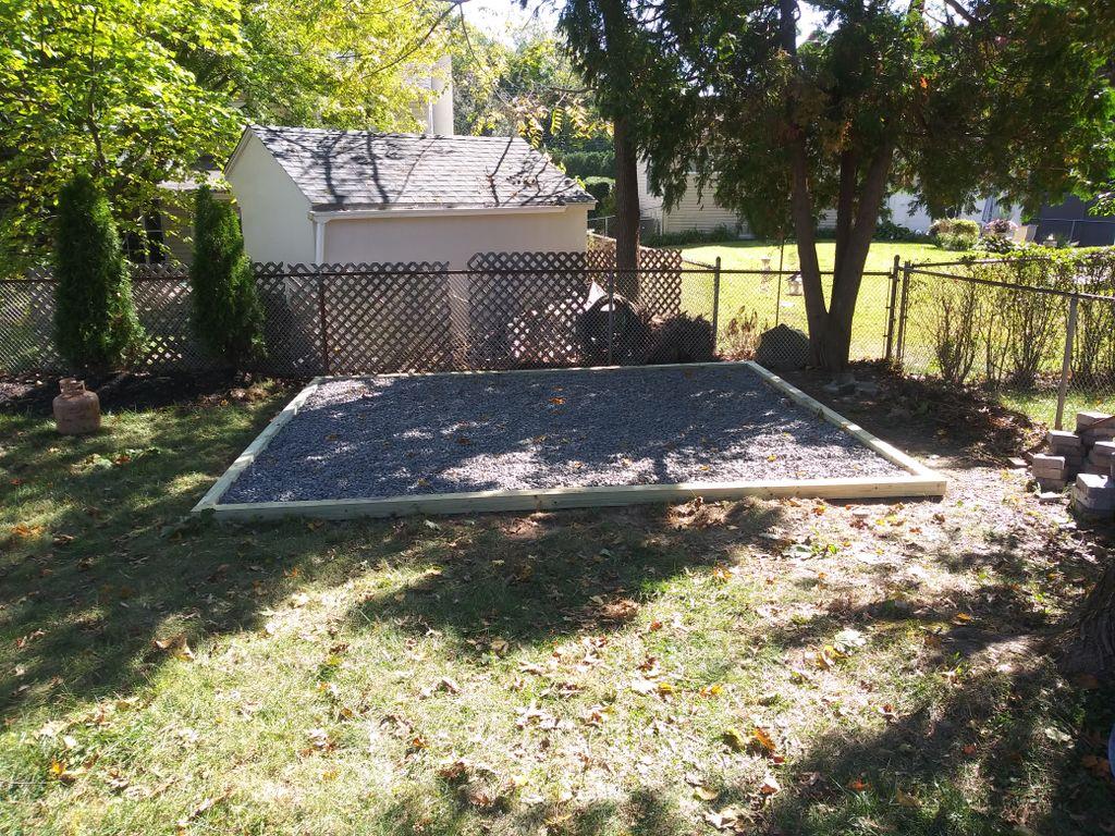 Gravel shed base