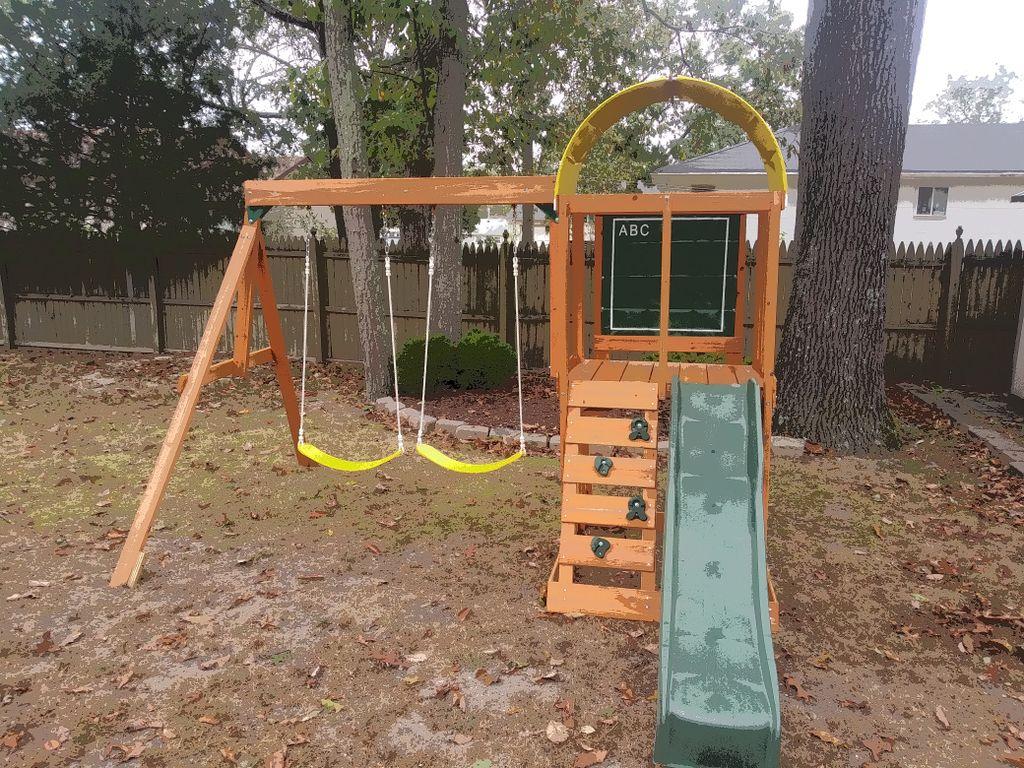 New swing set